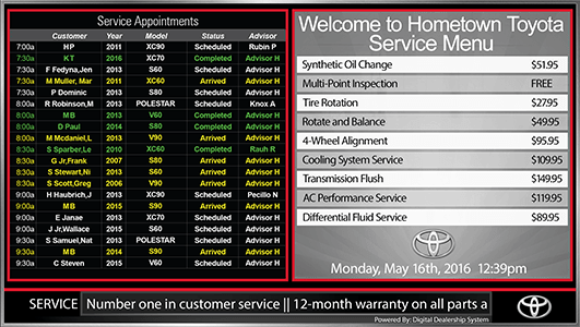 Toyota Service Appointment >> Toyota Digital Signs And Touch Screen Kiosks From The